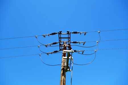 Electricity pylons 写真素材 - 136194991
