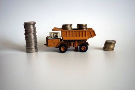 Money, coins, finance, economy, transportation 写真素材 - 136182859