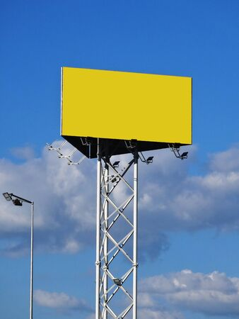 Advertising space on a mast