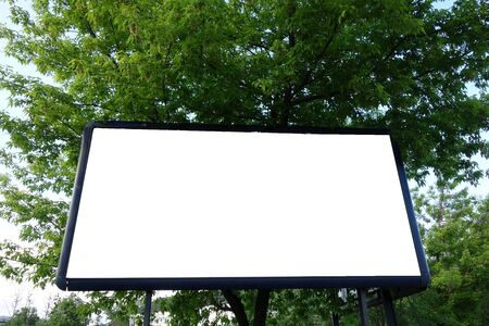 Billboard with white blank area 写真素材