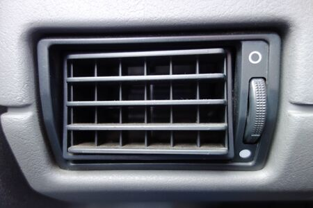 Air conditioner in old car, manual adjustment