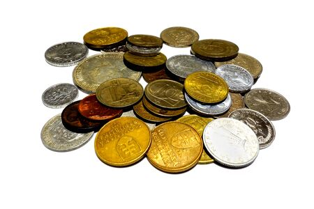 A pile of old collector coins