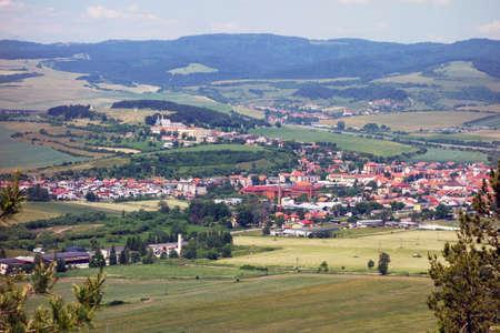 View of the town of Spišské Podhradie from the rock town of Dreveník Slovakia