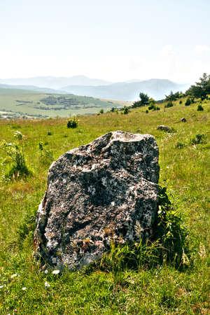 Rock fragment from travertine mountain near Spisske Podhradie Slovakia