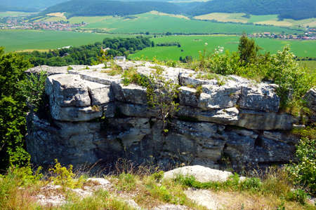 A view of the beautiful surrounding nature from the tourist attraction Dreveník, it is the largest travertine area in Slovakia near Spišské Podhradie