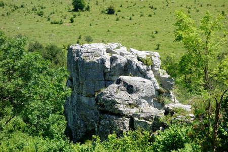 a rock resembling a head