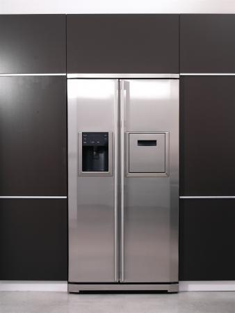 Moderne koelkast Stockfoto