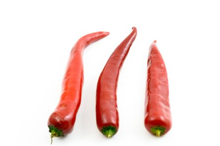 red chili peppers isolated on a white background Stock Photo - 15674814