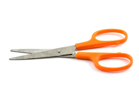 handled: handled scissors on a white background.