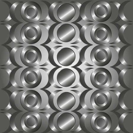Metal circle rings pattern.For art texture or web design and idea background. Vector