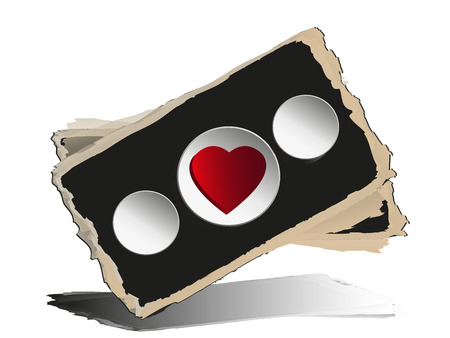 Blackboard with heart. Vector