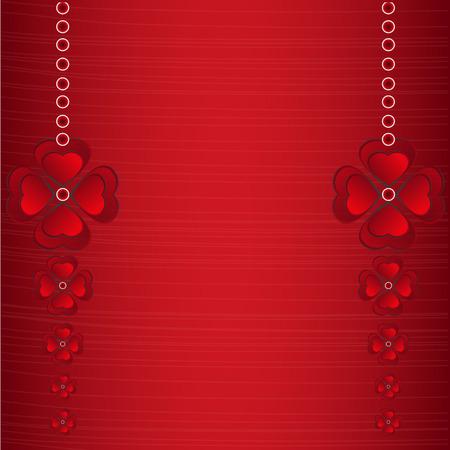 발렌타인 배경에 빨간색 하트 개념입니다.