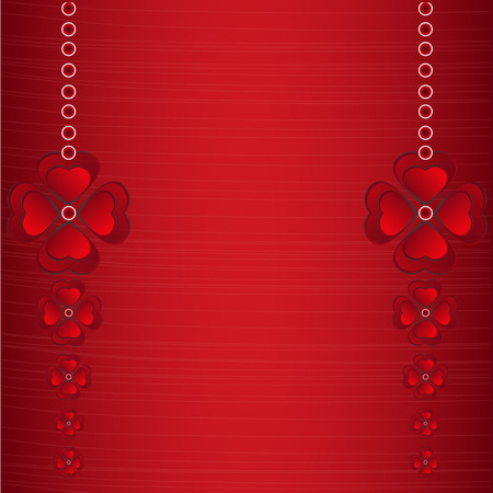 Red hearts concept on Valentines day background. Ilustrace