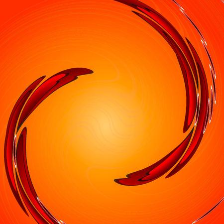 circular wave: orange twirl circular wave Background.