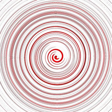 circular wave: Red twirl circular wave on white background.
