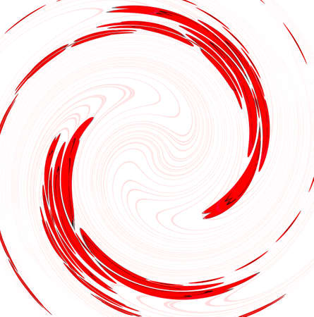 circular wave: Red twirl circular wave on white background.