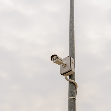 closed circuit television: closed circuit camera for security surveillance.