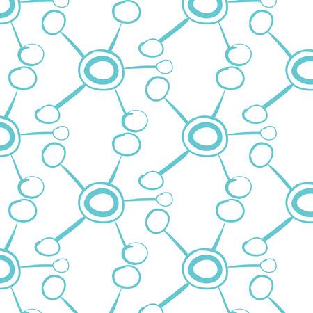 Arrière-plan flou abstrait. Connexion réseau Hub. Logo de technologie ou de technologie. Bouton serveur ou base de données centrale. Symbole de liens système. Forme de molécule.