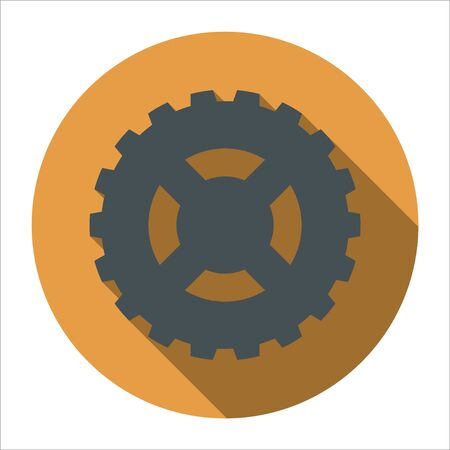 Cog (gear) icon on black shadow backgrounds. Gears and cogs symbol. Industrial icon. Web design icon. Space for gear text. EPS.10 Illustration