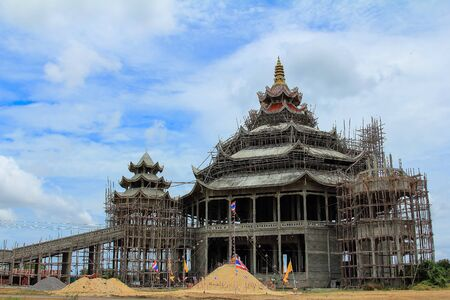 construction of the temple in Thailand photo