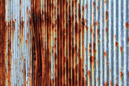 zinc fence and rust stains photo