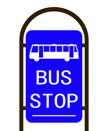 bus stop: Bus Stop sign on a white background