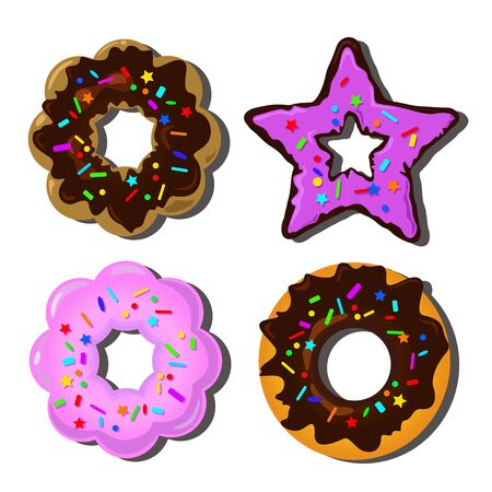 donut: Donut on white background