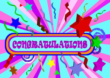 tex: congratulation tex on colorfull background
