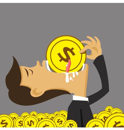 corruption: illustration businessman money and corruption