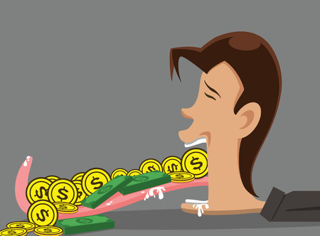 the corruption: illustration corruption  man and money