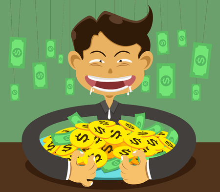 corruption: illustration corruption  man and money
