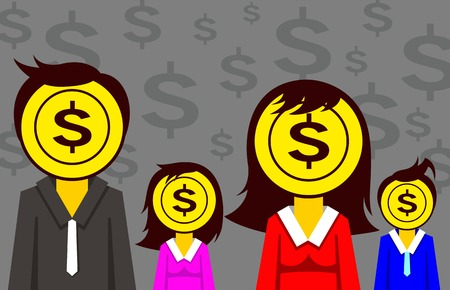 the corruption: illustration corruption  people and money Illustration