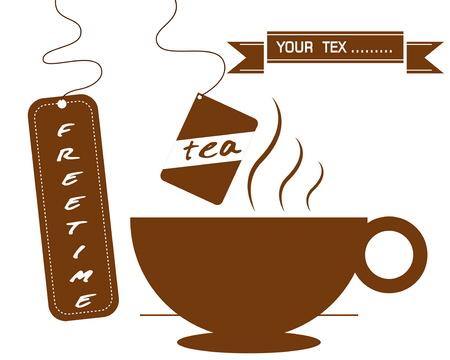hot drinks: hot drinks coffee and tea Illustration