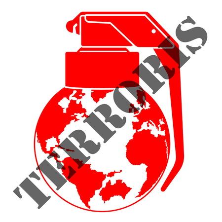 illustration threats and global terrorism Illustration