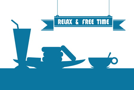 office party: illustration relax and free time Illustration
