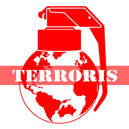sabotage: illustration threats and global terrorism Illustration