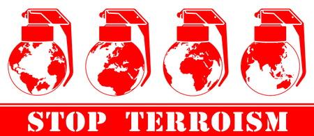 terrorism crisis: illustration threats and global terrorism Illustration