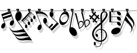 Icône symbole note et la musique Banque d'images - 60643881