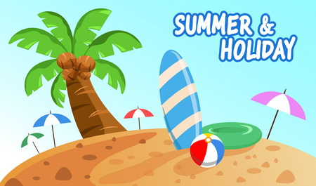 summer holiday: holiday on summer in beach