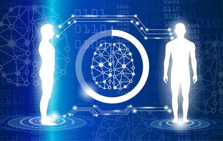 Tecnología con ciencia en el futuro y clonación