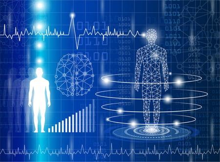 La technologie avec la science à l'avenir et le clonage. Banque d'images - 79892356