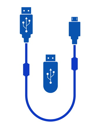 white bacground: isolated usb icon on white background use for transfer data other on network internet