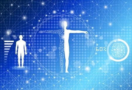 배경 기술 개념, 미래의 기술 의학 일러스트