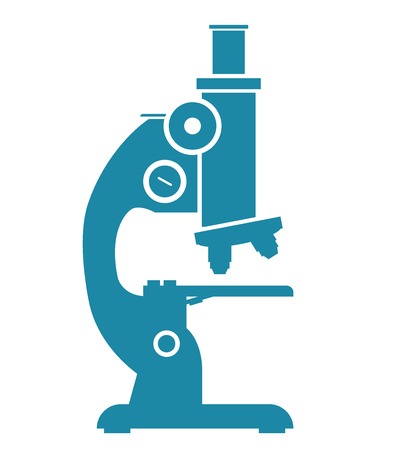 illustration silhouette,microscope blue icon isolated on white background,microscope is important equipment for scientists and doctor used for research and experimentation
