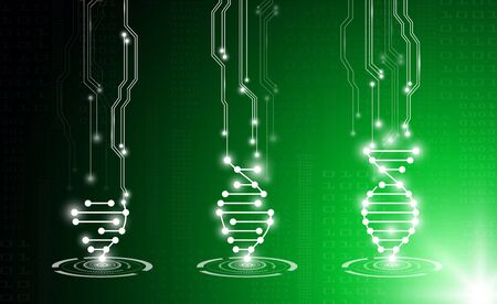 Abstract   technology concept in green light