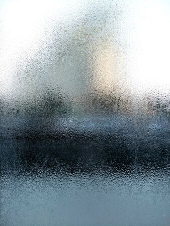 abstract background water drops on glass,raindrops on window glass,dew and moisture with wet floor Banque d'images - 133317011
