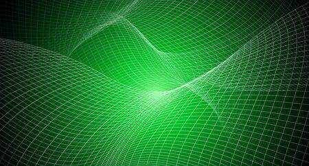 copy space with abstract background irregular grid, mesh pattern on green light,geometric and line,technology network and science concept in future and global international Banque d'images - 134473878