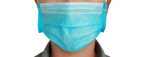 clipping paths,publicity signs for coronavirus prevention,doctor and nurse with covid-19 prevention,woman wearing a mask isolated on white background