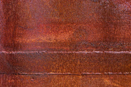 rusty metal texture background,brown and gray old rusty plate,dirty surface pattern and peeling paint Stockfoto