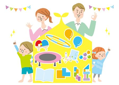 People Family Group Ran Good Friends Smile Home Play Stay Home